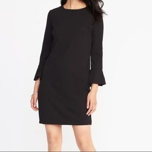 Old Navy Bell Sleeve Knit Black Dress -NWT-